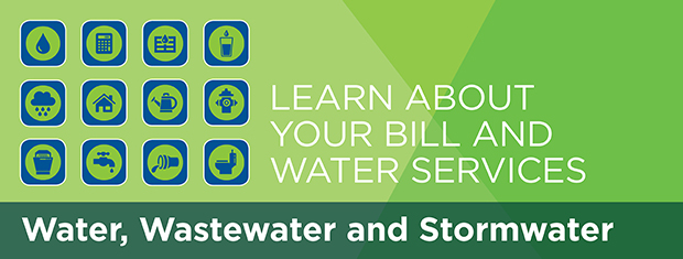 Water, wastewater and stormwater page banner